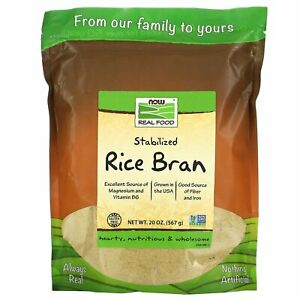Real Food, Stabilized Rice Bran, 20 oz (567 g) - Now Foods