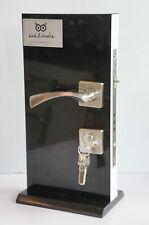 Esterno interno in legno Porta Maniglia Acciaio Spazzolato Effetto Cromato 5 CHIAVI M098