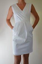 Basque Designer White Wrap Dress Race Cocktail Formal Party Sexy Women Dress 10