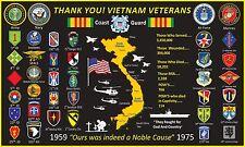 Vietnam Veterans Thank You! 3'X5' 2Pl Polyester 1-Sided Indoor 4 Grommet Flag