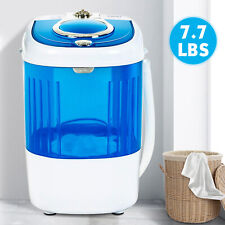 Mini Portable Compact Washing Machine Semi-Automatic Laundry Washer Blue Home