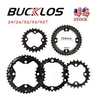 BUCKLOS 104/64BCD 24/26/32/38/42T Double/Triple Speed Chainring Fit Shimano/SRAM