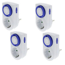 4 x Analog Day - Timer 002 Mechanical with child Protection 230V 16A Switch