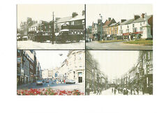 Postcard Northampton Then and now Abington Square The Drapery    (B4e)