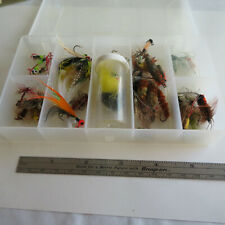 FLY FISHING LURE  30 PLUS FLIES  IN A PLANO  BOX