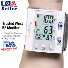 Fully Automatic Accurate Wrist Blood Pressure Monitor BP Cuff for Home 5.3-8.5''