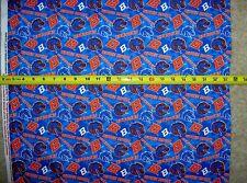 Boise State University Broncos Multi Blue & Orange 1178 Durable Cotton Fabric