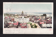 c1905 Panorama of Detroit from Majestic Building Michigan postcard