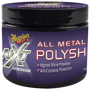 MEGUIARS NXT Metal Polysh 142g Anti-corrosive technologyCleans,polishes&protects