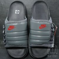 Nike Asuna Slides Sandals Grey Black Red Mens Size 9 CW9703-006 Limited