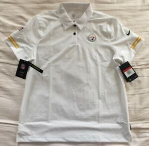Nike On Field Pittsburgh Steelers NFL Elite Performance Polo Shirt Women's Large