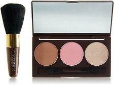 SUNKissed Bronze and Contour Gift set Kit with Highlighter Blusher Brush 26105