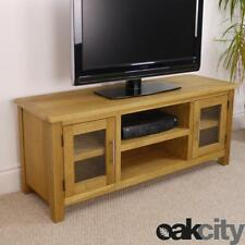 Nebraska Modern Oak Large TV Unit / Solid Wood TV Stand / Oiled TV Cabinet / New