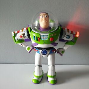 """Toy Story Buzz Lightyear Chrome Utility Belt 12"""" Action Figure Thinkway Toys"""