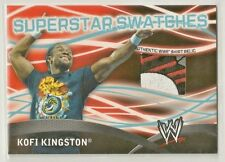 Kofi Kingston 2011 Topps WWE Superstar Swatches 4 color Event-Worn T-Shirt Patch