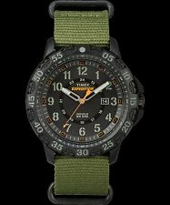 NEW Timex Men's Expedition Gallatin Green Nylon Slip-Thru Strap Watch2 FREE SHIP