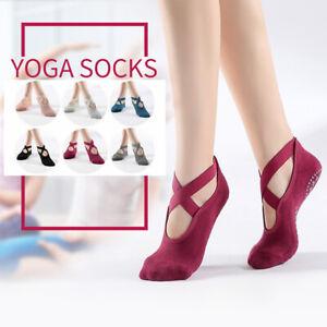 6 Pairs Yoga Socks with Anti-Slip Skid exercise, yoga, ballet, pilates EUR 35-39