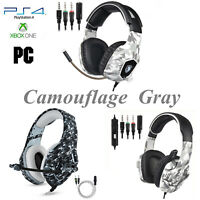 PS4 Gaming Headset Xbox One PC Headphone Camo 3.5mm Stereo Sound Earphone w Mic