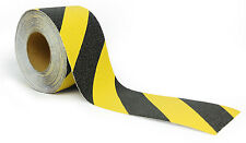 Black and Yellow Anti Slip Safety Grit Non Slip Tape - Traction 60' or 15' Feet