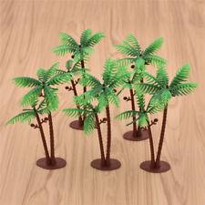 5pcs Mini Green Scenery Landscaping Model Green Coconut Palms Tree Home Decor