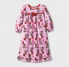 Disney Junior Toddler Girls' Minnie Mouse Santa Nightgown Pink - 18M Christmas