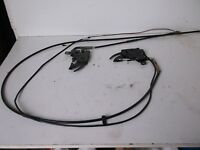 BMW E36 Convertible Hood rear cover lock down cables and latches
