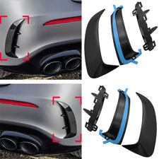 Pair Rear Bumper Flicks Canards For Benz W177 AMG Line A35 A160 A180 A200 A250