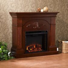 Southern Enterprises Sicilian Harvest Electric Fireplace - Mahogany FE9277 New