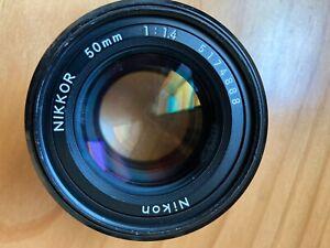 Nikon NIKKOR 50mm F/1.4 Manual Focus AIS {FUNGUS} Mechanically good