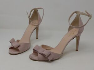 Kate Spade Ismay suede bow pink heels w/ ankle strap Women's US size 10