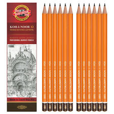 KOH-I-NOOR 1500 10H - 8B, 12 PENCILS IN BOX, 20 DEGREES AVAILABLE