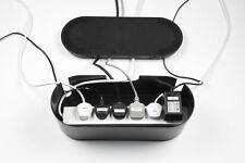 D-line Cable ordenado Unidad-Negra Grande-Cueros de 6 posiciones de cable de extensión de lleva