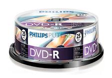 Philips DVD-R Inkjet Printable 25 Pack Spindle 16x 4.7GB Blank DVDs Media Disks