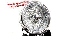 "13"" lowrider classic 100 spoke chrome knockoff wire wheels Cutlass, regal, Monte"