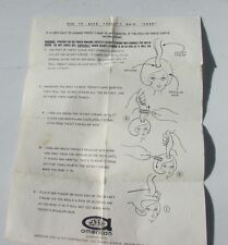 Growing Hair Tressy Doll Original Instruction Sheet VHTF 1963 American Character