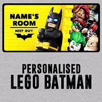 Personalised Lego Batman Childrens Metal Bedroom Door Wall Sign/Plaque Boy Girl