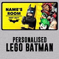 Personalised Lego Batman Childrens Metal Bedroom Door Wall Sign Plaque Boy Girl
