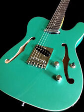 NEW TELE STYLE SEMI HOLLOW 6 STRING BOUND ELECTRIC GUITAR SEAFOAM GREEN