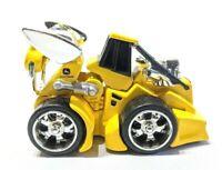 ERTL Diecast, John Deere Yellow Racing Tractor, Silver Color Rims, # ES 5, 1/64