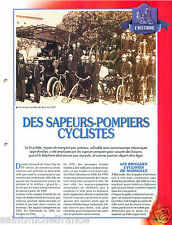 Tricycle Cycling Triporteur Section Cycliste Sapeurs Pompiers FICHE FIREFIGHTER