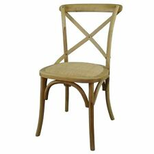 Solid Wood Cross Back Kitchen Dining Chair Country Farmhouse Vintage French