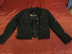 XElement Armored/Padded Women's Size Small Motorcycle Jacket Black Brand New