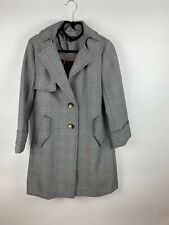 Topshop Black And White Check Coat Size 6