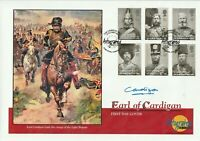12 OCTOBER 2004 THE CRIMEAN WAR FDC HAND SIGNED BY EARL OF CARDIGAN SHS