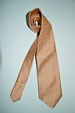 Boss Black Label Peach w/Periwinkle, Blue & Ivory Leaves & Dots Silk Tie