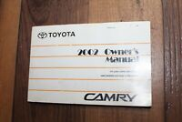 02 2002 Toyota Camry Solara owners manual