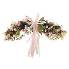 Artificial Rose Spring Foliage Flower Wreath Door Lintel Wall Wedding Decor