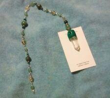 PROSPERITY Abundance Hanging Sparkler Charm LONG Gem Bead Pendulum Wicca Reiki