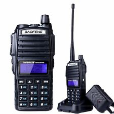 BaoFeng UV-82 VHF UHF Dual Band 136-174/400-520MHz 2-PTT 5W FM Ham Two Way Radio