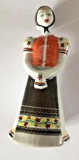 Hollohaza Hungary Lady National Folk Costume Handpainted Figurine Porcelain 8070